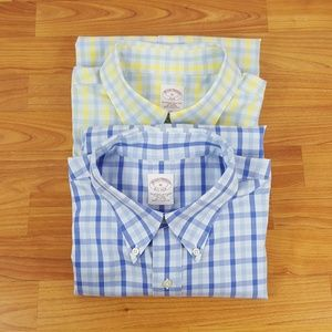 2 Men's BROOKS BROTHERS 346 No Iron Long Sleeves
